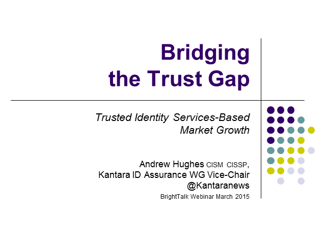 Bridging the Trust Gap for Identity Services Based Market Growth