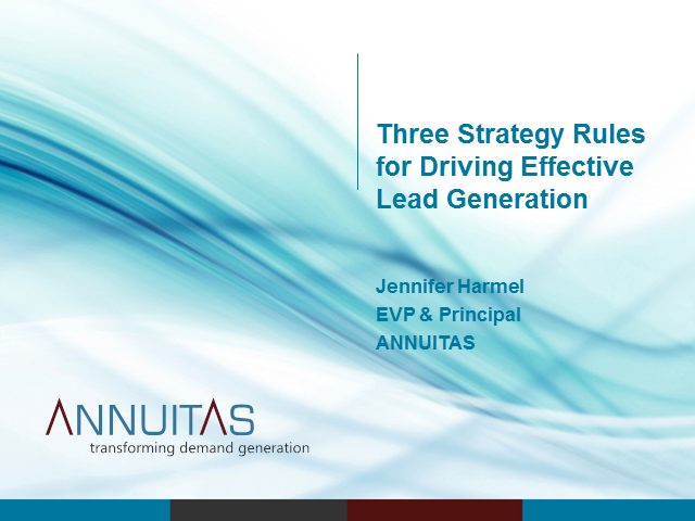 3 Strategy Rules for Driving Effective Lead Generation