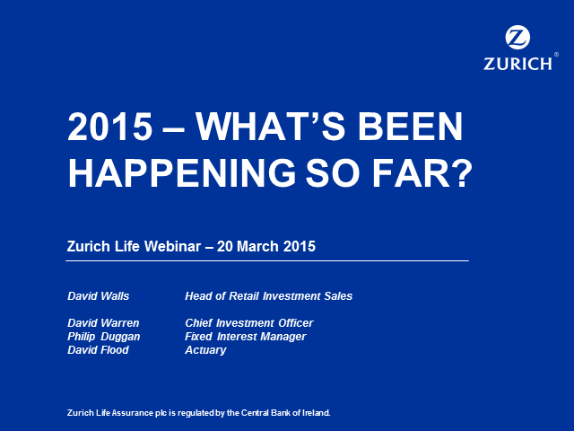 2015 - What's been happening in the Markets?