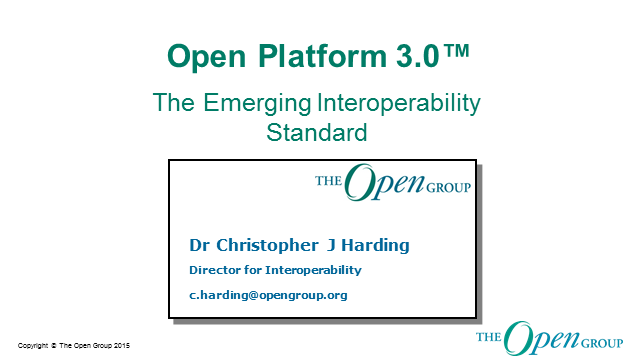 Open Platform 3.0 - The Emerging Interoperability Standard