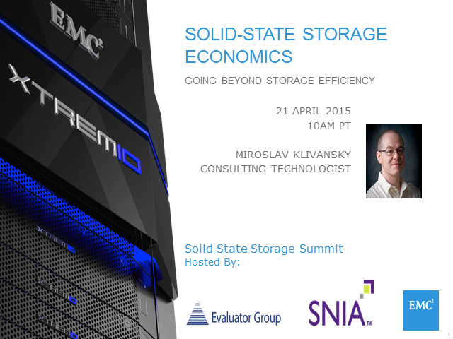 Solid-State Storage Economics: Going Beyond Storage Efficiency