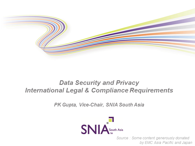 Data Security and Privacy: International Legal & Compliance Requirements