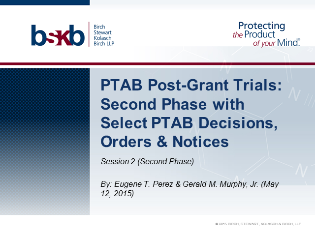 Pitfalls in Post-Grant Trials