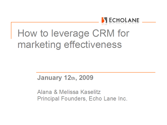 How to leverage CRM for marketing effectiveness
