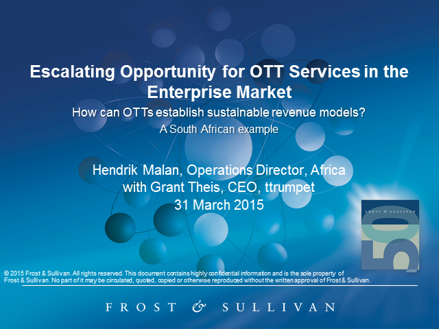The Opportunity for OTT Services in the Enterprise Market