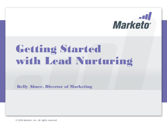 Getting Started with Lead Nurturing