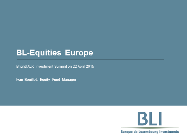 BL-Equities Europe: Quality investments at a reasonable price