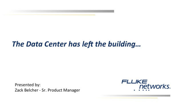 The Data Center Has Left the Building