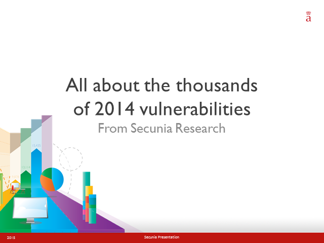 All About the Thousands of 2014 Vulnerabilities - From Secunia Research