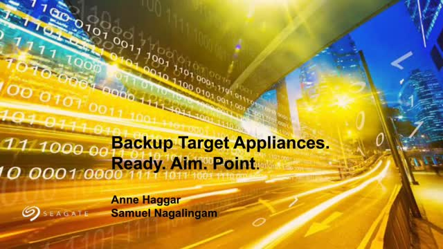 Backup Target Appliances: Ready. Aim. Point.