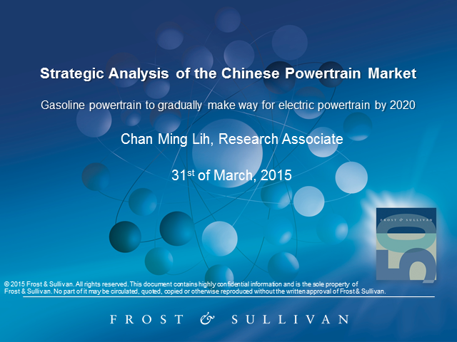 Strategic Analysis of the Chinese Powertrain Market