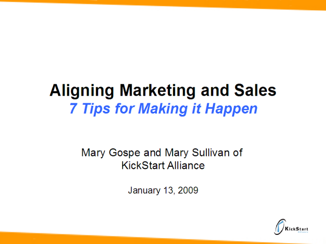 Aligning Marketing & Sales
