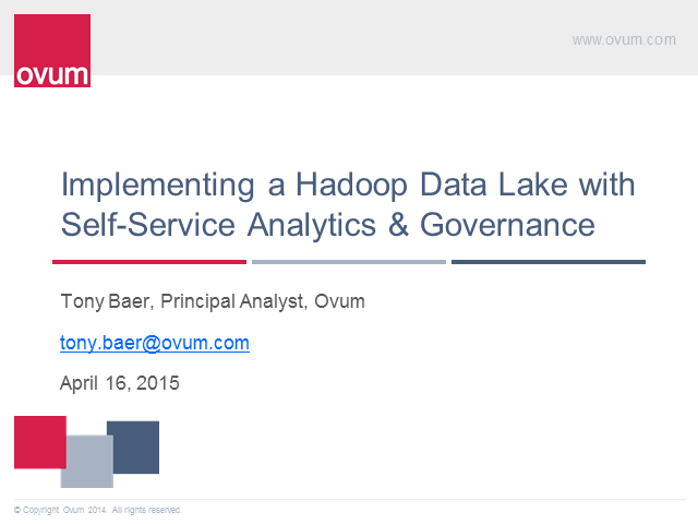 Implementing a Hadoop Data Lake with Self-service Analytics and Data Governance