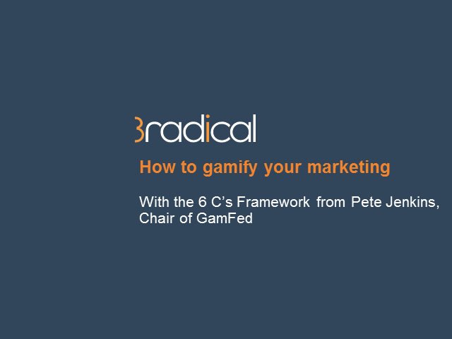 How to gamify your marketing with the 6 C's framework