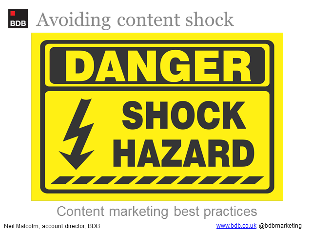 Avoiding content shock,best practice b2b content marketing