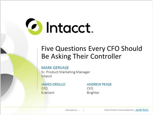 5 Questions Every CFO Needs to Ask the Controller