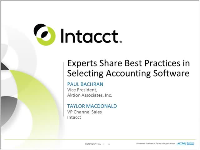 Experts Share Best Practices for Selecting Accounting Software