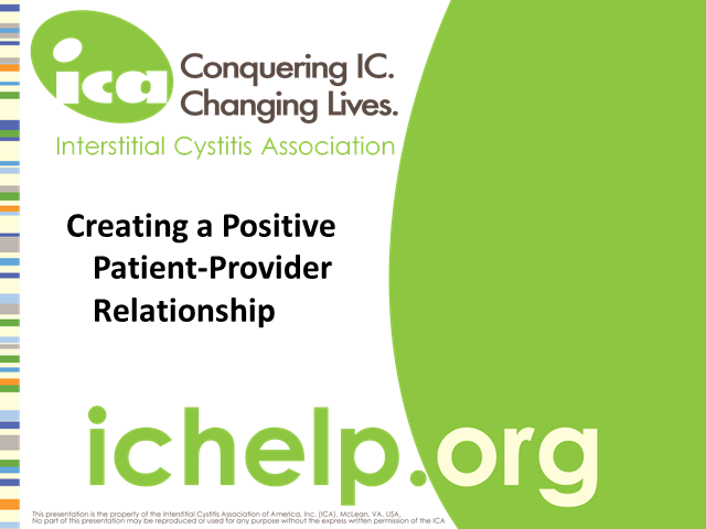 Creating a Positive Patient-Provider Relationship Webinar