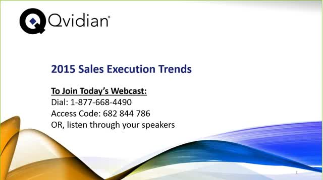 2015 Sales Execution Trends Research Results