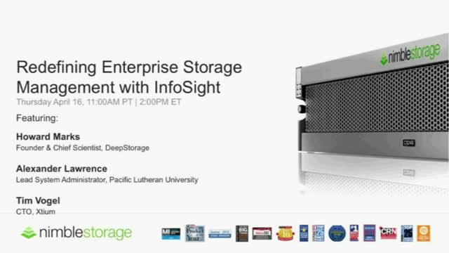 Defining a New Storage Experience for the Enterprise Datacenter