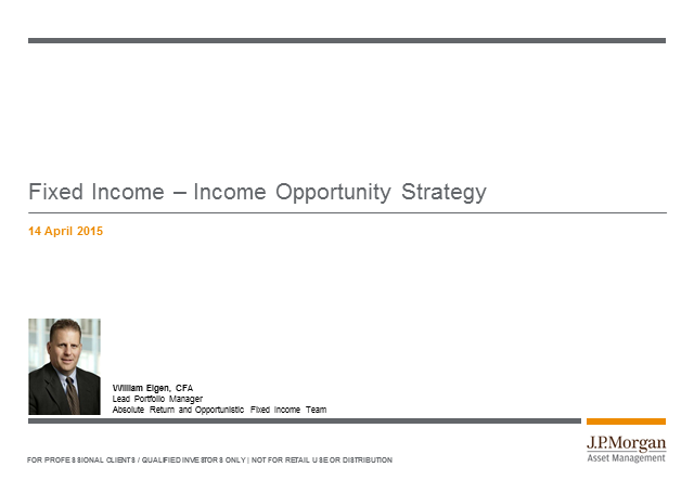JPM Income Opportunity Fund