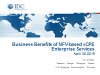 The Business Benefits of Implementing NFV: vCPE Enterprise Services