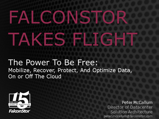 The Power To Be Free: Migrate, Recover, Protect And Deduplicate Data
