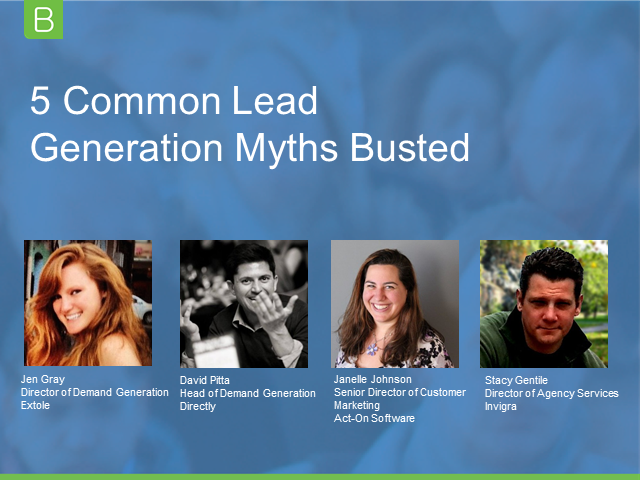 5 Common Lead Generation Myths Busted