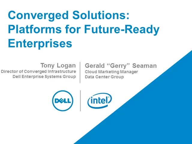 Converged Solutions: Platforms for 21st Century Enterprises PART 1