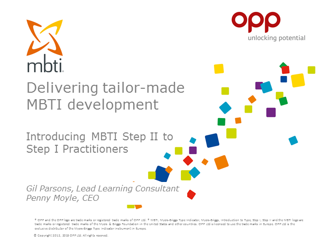 Delivering tailor-made MBTI development