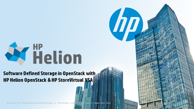 Software Defined Storage in OpenStack® with HP Helion