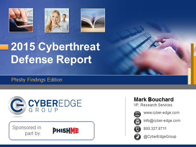 2015 CyberThreat Defense Report: Phishy Findings Edition