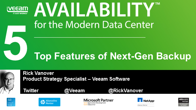Availability for the Modern Datacenter: Top 5 Features of Next-Gen Backup