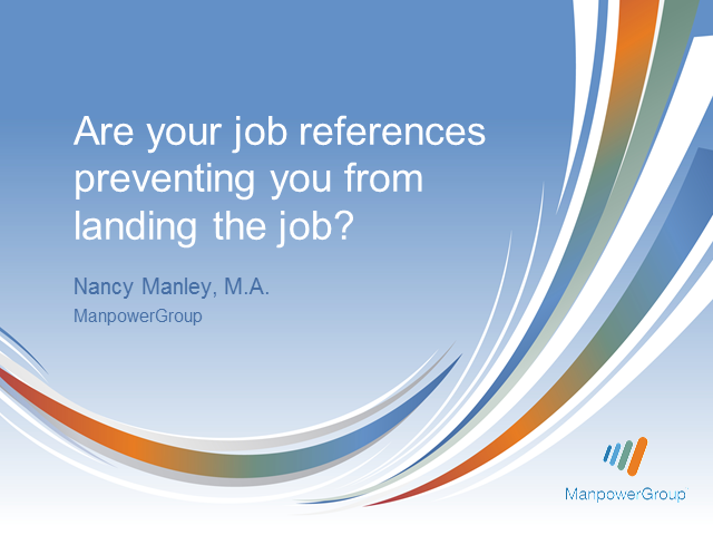 Are your job references preventing you from landing the job?