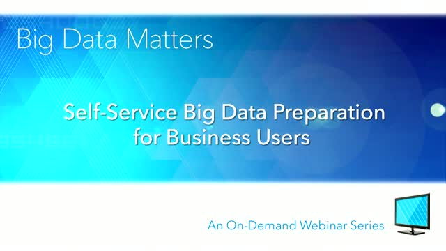 Self-Service Big Data Preparation for Business Users