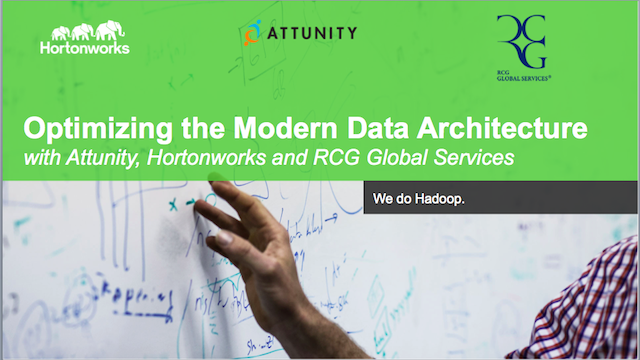 Optimizing the Modern Data Warehouse - with Hortonworks, Attunity and RCG