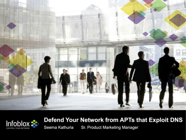 Defend Your Network from APTs that Exploit DNS