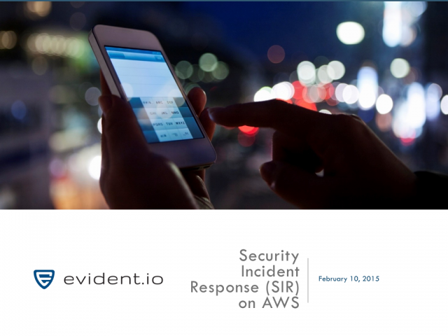Security Incident Response on Amazon Web Services (AWS)