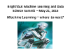 Machine Learning - where to next?