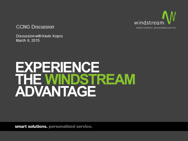 Why Windstream?