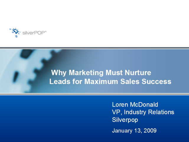 Why Marketing Must Nurture Leads for Maximum Sales Success