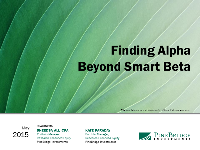 Finding Alpha Beyond Smart Beta