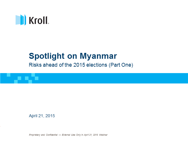 Spotlight Myanmar - Myanmar at the tipping point