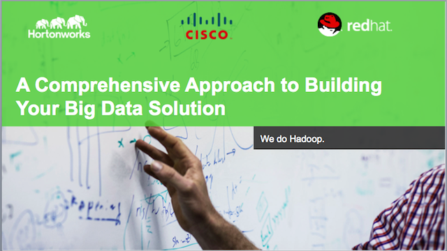A Comprehensive Approach to Building your Big Data Solution