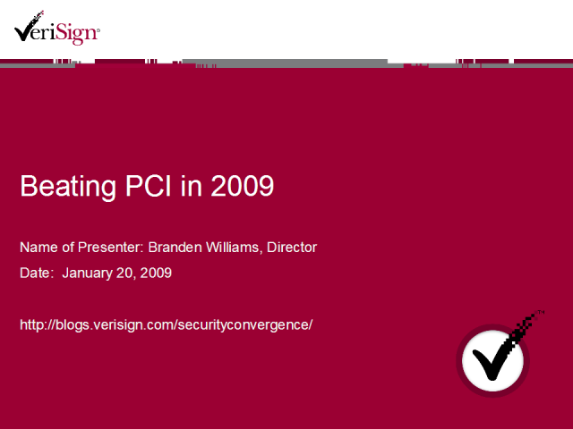 Beating PCI in 2009