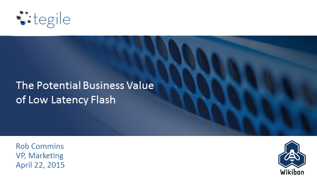 The Potential Business Value of Low-latency Flash
