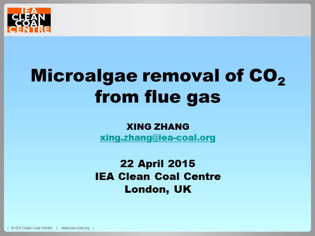 Microalgal removal of CO2 from flue gas