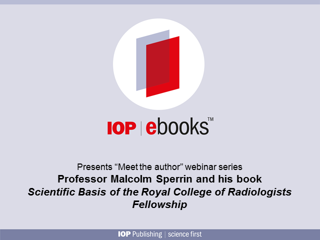 Meet the author Professor Malcolm Sperrin