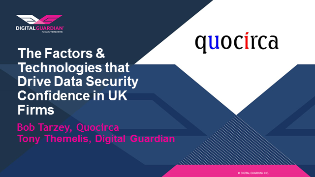 The Factors & Technologies that Drive Data Security Confidence in UK Firms