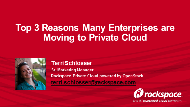 Top 3 Reasons Enterprises Choose Private Cloud